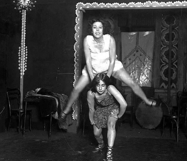 May Charlotte Gilchrist (bottom) and Lillian Collier, 'Leap Frog Girl.'  Chicago Tribune archives