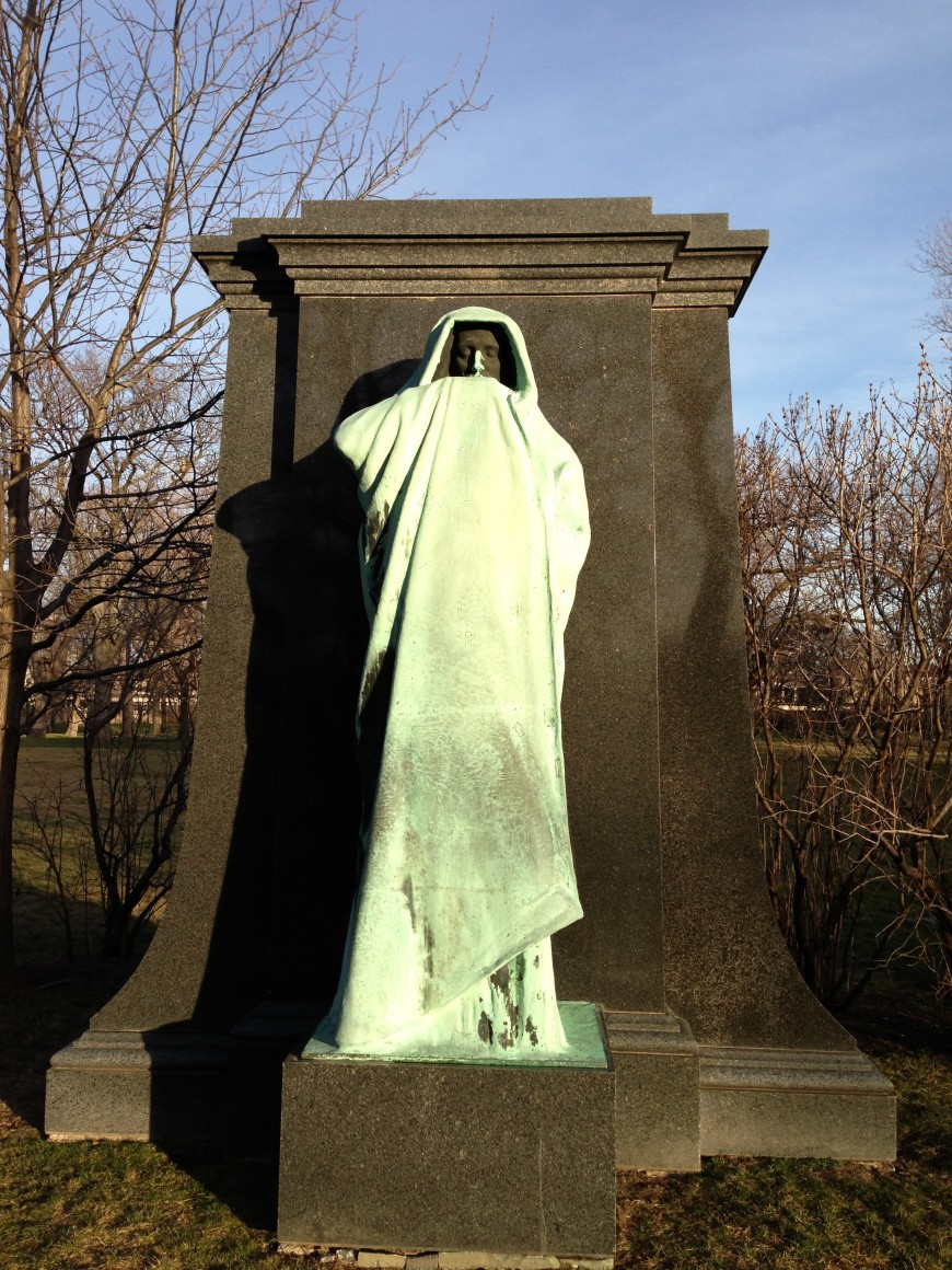 eternal silence / statue of death at graceland
