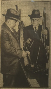 "Detective Norton at right. When he found all the guns in hidden compartments at Ralph Capone's house, did he think back to digging through the hidden compartments at the HH Holmes ""murder castle"" more than 30 years before?"