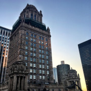 The magnificent Jeweler's building, as seen from the rooftop bar of the Virgin Hotel.