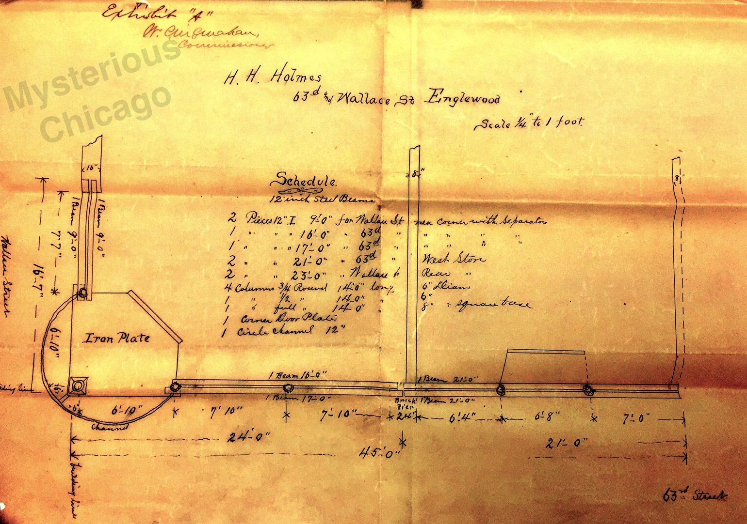 Hh Holmes Murder Castle Architect S Diagram Discovered