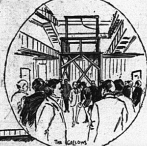 The gallows sketched by the Philadelphia Press